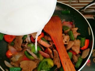 嫩炒猪肝,淋入少量水淀粉