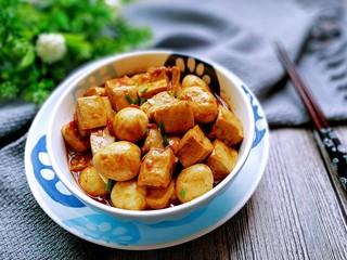 鹌鹑蛋烧豆腐,成品图!