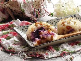桂花紫薯糯米饭