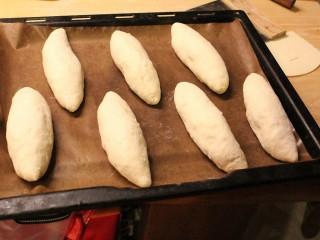 最爱面包+咖哩面包,将包好的面包,进行最后发酵一小时。