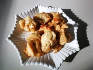 #懒人料理#家常酱烧茄块,炸好的茄块,一小盘。