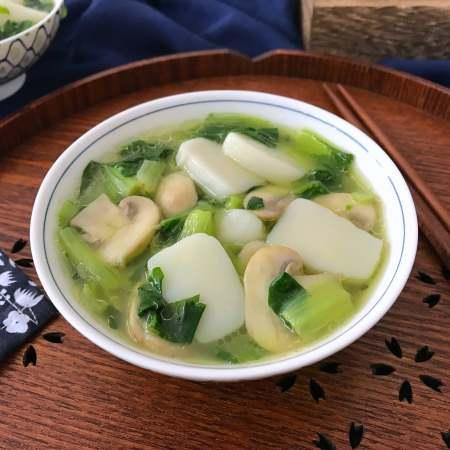 绣花锦蘑菇汤年糕
