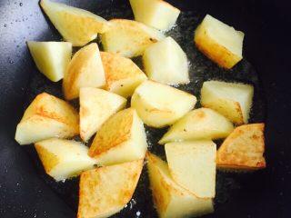 #糖醋菜#糖醋土豆,小火煎至七分熟