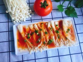 #懒人料理#茄汁酸甜金针菇
