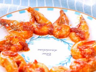 茄汁大虾,让人流口水的一道虾,吃完还不忘吸吸手指头哈~