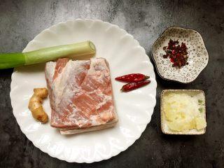 私房红烧肉,准备材料如图。
