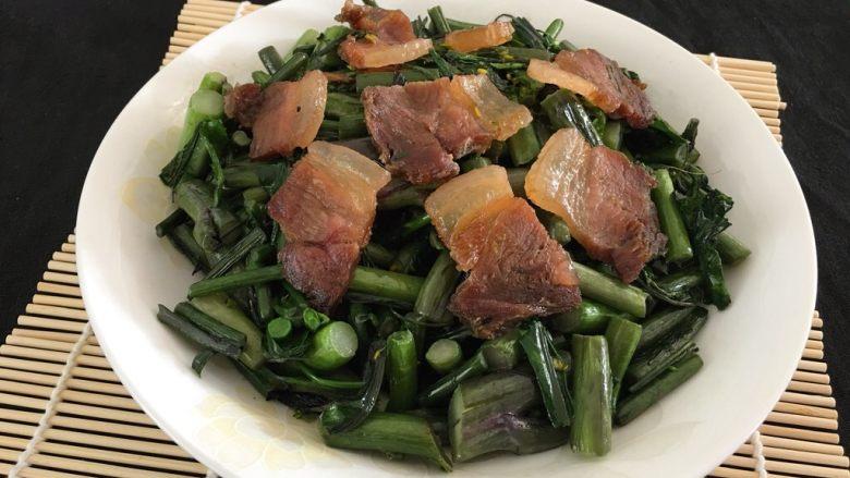 紫菜苔炒咸肉