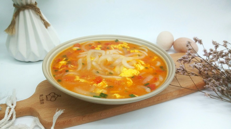 一碗面条+番茄鸡蛋粉