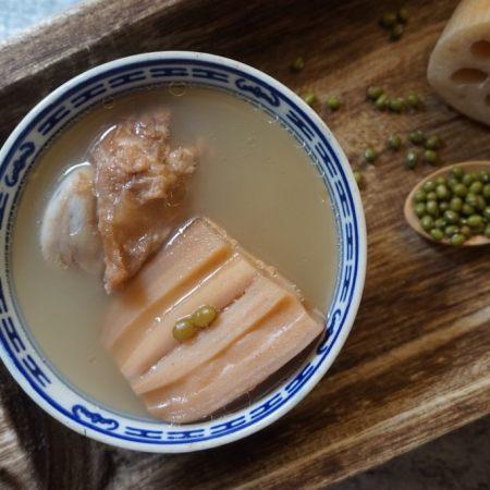 莲藕绿豆煲猪骨汤