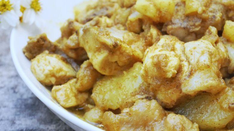 咖喱土豆炖鸡块,成品图