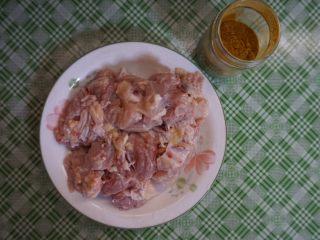 咖喱土豆炖鸡块,鸡块洗净放干水