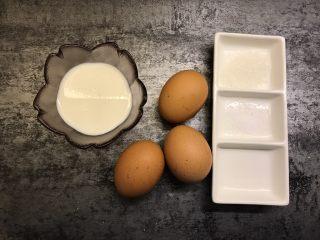 美味的日式厚蛋烧,准备好所有食材