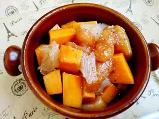 #感恩节食谱#南瓜蜜柚烤鸡肉,撒黑胡椒