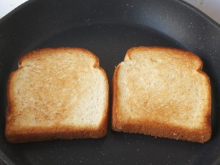 三明治,煎到这个程度