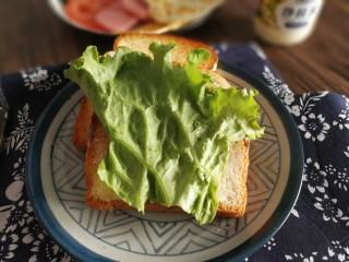 三明治,加一叶生菜