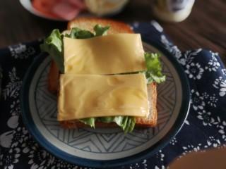 三明治,加芝士片