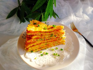 #感恩节食谱#+双色萝卜鸡蛋饼
