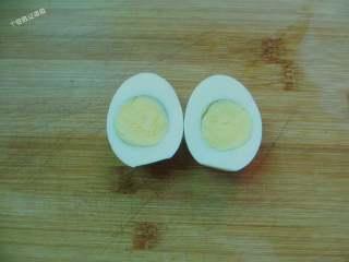 咖喱鸡排饭,免炸版,鸡蛋水煮后播壳切开