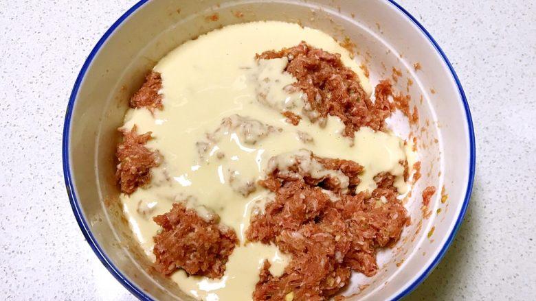 自制午餐肉,在肉泥中加入淀粉鸡蛋液