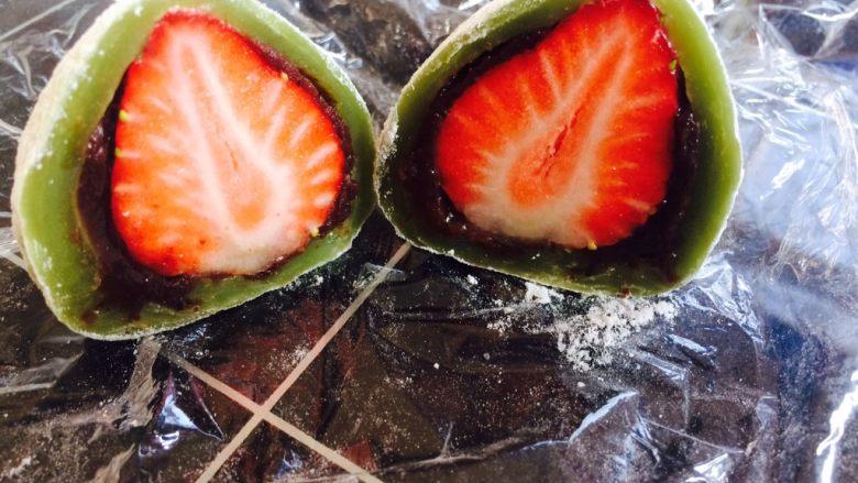 草莓大福,美美的来一张