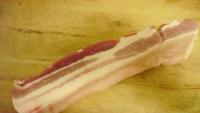 猪肉白菜炖粉条 ,准备五花肉