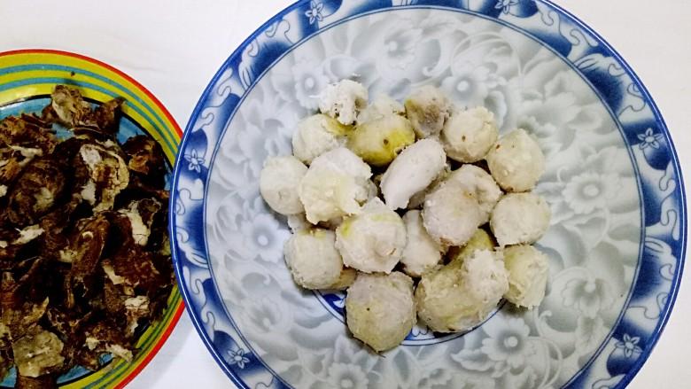 清汤芋圆,清水煮熟的芋头,剥皮净重650克