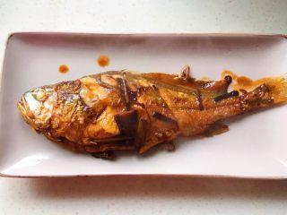 幸福的味道-红烧黄鱼,装盘