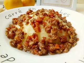 圆土豆+肉末火腿丁土豆泥