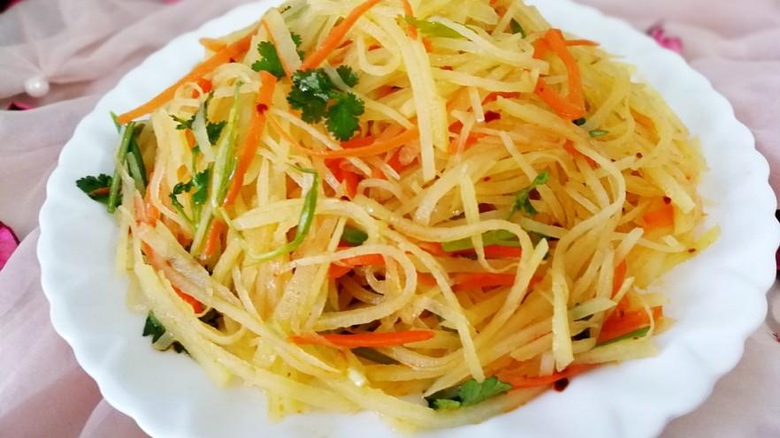 圆土豆+速拌炝土豆丝