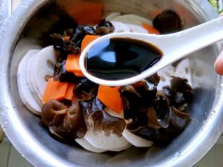 荷塘小拌-凉拌藕片,喜欢颜色重的可以加入一勺酱油