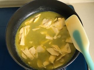 原味雪花酥❄️,不停搅拌直到黄油融化
