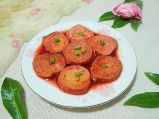 花儿一样的玫瑰腐乳素肠,漂亮吧!还能吃到海鲜味哦!😋