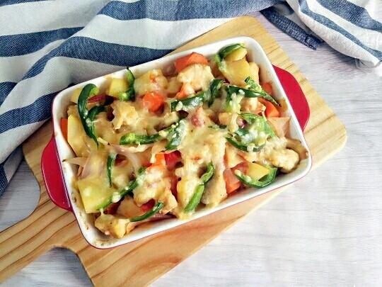 西红柿鸡肉焗饭,成品