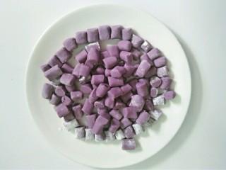 芋圆小火锅,紫薯圆