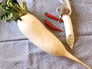 清蒸萝卜,准备食材
