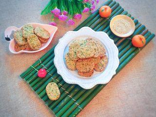 芝麻香葱饼干,成品图。