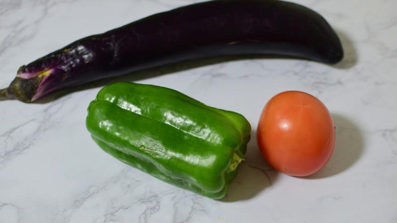 红烧茄子,准备食材