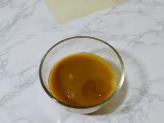 红烧茄子,酱汁所有材料混合