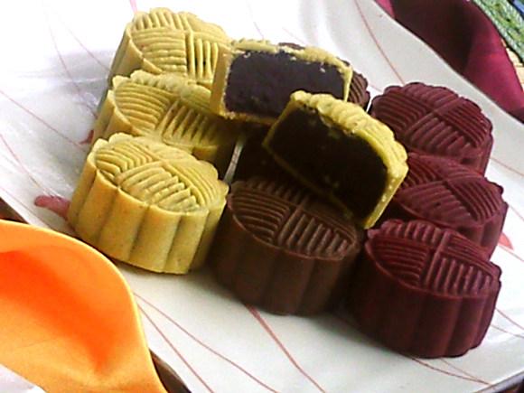 紫薯桃山月饼