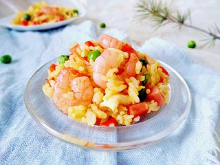 百变鸡蛋+五彩虾仁蛋炒饭