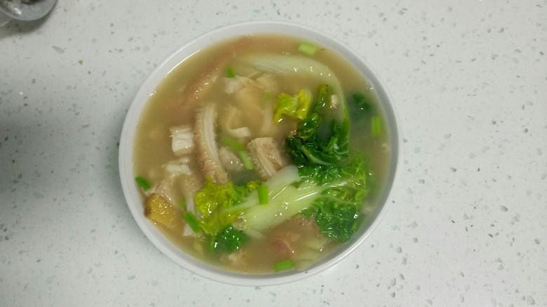 肚丝汤,搅拌均匀,大功告成!