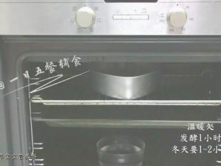 红枣发糕,放在温暖的地方发酵1-2小时。发酵到2倍大就好。 🌻小贴士 :最常用的发酵方法是:把面糊放烤箱或微波炉这样的小空间中,再放一大碗水,这样既能保证温度,也能保证湿度,冬天一样成功。 那有人问,没有烤箱、微波炉怎么办?烧一锅热水,关火,把面糊放蒸笼上,蒸笼上热水上,这样也一样哦。