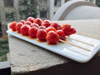 草莓糖葫芦,成品图