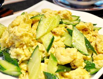 百变鸡蛋+鸡蛋炒黄瓜