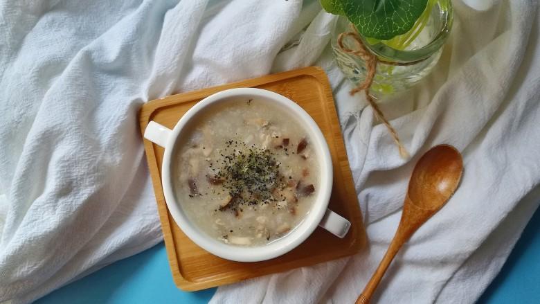 牡蛎香菇粥