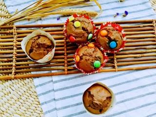 巧克力马芬蛋糕,巧克力的醇香、黄油的浓香、马芬蛋糕的弹牙,中间还有融化巧克力的爽滑细腻、巧克力豆的惊喜,怎叫人不爱?