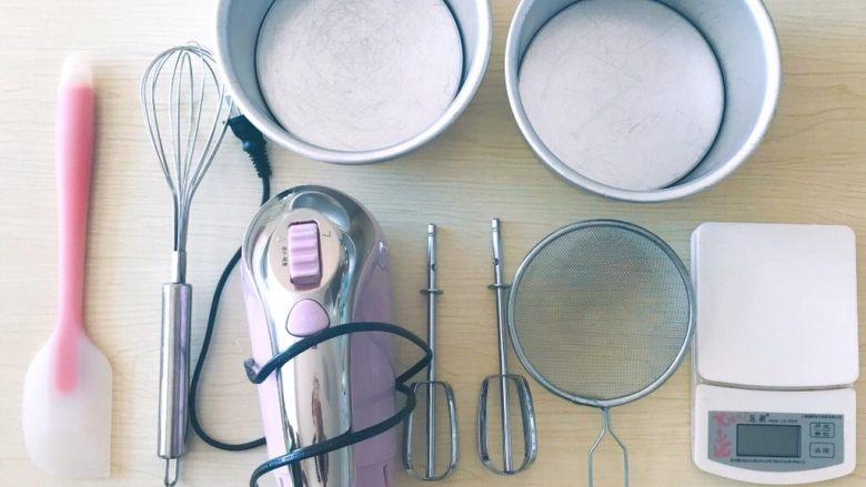 红丝绒蛋糕,所需工具