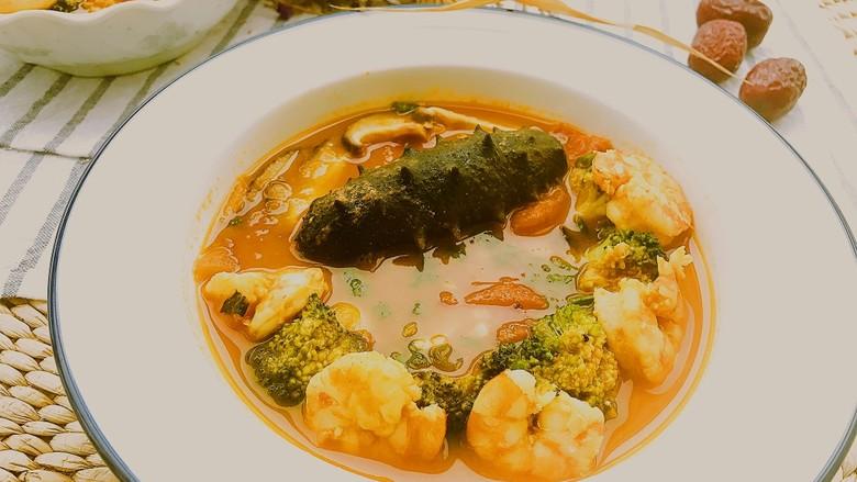 茄汁虾仁海参 宴客滋补菜