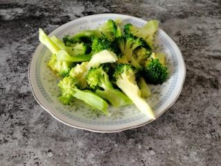 台式吃法_清蒸龙利鱼,焯好的西兰花用香油,盐,糖拌一下就可以吃了。