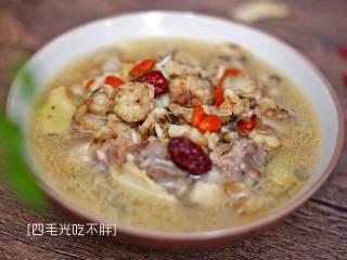 滋补土龙排骨汤,超补的营养汤,完成!